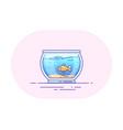 fishbowl icon design vector image vector image
