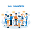 flat people talking and holding smartphone vector image