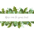 foliage template banner frame for wedding vector image