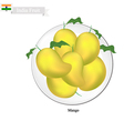 Fresh Mango A Famous Fruit in Indian vector image vector image