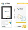 gear business logo tab app diary pvc employee vector image vector image