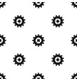 gear pattern seamless black vector image vector image