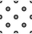 Gear pattern seamless black