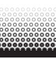 geometric degrade motif in white and black vector image vector image