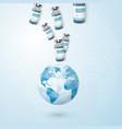 global program fight against coronavirus planet vector image