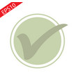 green tick checkbox isolated vector image vector image
