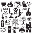 halloween holiday graphic template flat icons vector image