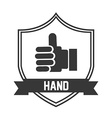 hand pictogram vector image