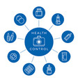 health control linear icons concept vector image vector image