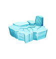 ice island for game user interface element for vector image
