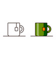 icons for teacup vector image vector image