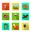 isolated object farm and vineyard symbol vector image vector image
