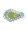 isometric baseball park ballpark diamond modern vector image