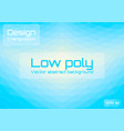 low poly light blue abstract background geometric vector image vector image