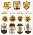 luxury golden badges and labels collection 6 vector image vector image