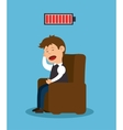 man sitting stress problem mental icon vector image