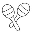 maracas thin line icon music and mexican vector image vector image
