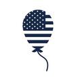 memorial day flag in balloon decoration american vector image vector image