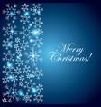 merry christmas blue card snowflake lights vector image