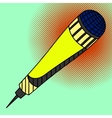 Microphone Pop art vector image