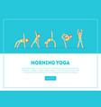 morning yoga banner landing page template boy vector image