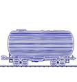 petroleum cistern wagon freight railroad train han vector image vector image