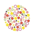 pizza ingredients in circle vector image vector image