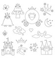 princess digital stamps vector image