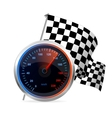 Racing Speedometer and checkered flag vector image vector image