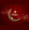 ramadan kareem ramadhan vector image vector image