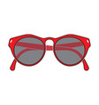 red frame glasses vector image vector image