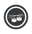 Round black sushi sign vector image