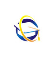 scholarship logo design template vector image