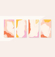 set abstract vertical backgrounds with copy vector image vector image