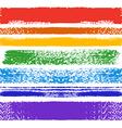 Set of rainbow grunge seamless brushes vector image vector image