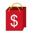 shopping bag isolated icon design vector image vector image