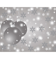 Silver Christmas background with Christmas balls vector image vector image