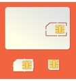 Sim card empty set Cell phone chip vector image vector image