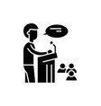 speaker black icon sign on isolated vector image vector image