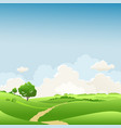 spring landscape with tree vector image vector image