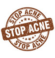 Stop acne brown grunge stamp