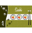 Sushi banner background vector image vector image