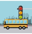 Transport traffic and vehicles design vector image vector image