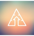 Triangle arrow up thin line icon vector image vector image