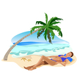 tropical relax girl vector image