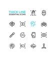 Virtual Reality - Thick Single Line Icons Set vector image vector image
