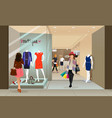 woman shopping in a mall vector image vector image