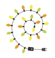 Garland light bulbs vector image