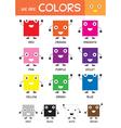 Kids Basic Colors Chart vector image