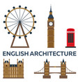 trip to london english architecture vacation vector image